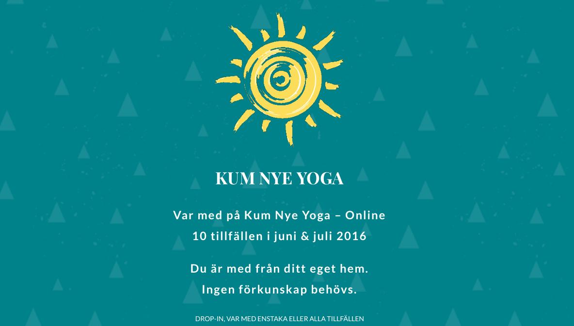 Kum Nye online drop in